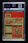 1953 Topps #244  Willie Mays  Back Thumbnail