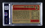 1954 Bowman #66 TED Ted Williams  Back Thumbnail