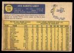 1970 O-Pee-Chee #238  Jose Laboy  Back Thumbnail