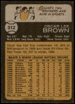 1973 Topps #312  Oscar Brown  Back Thumbnail