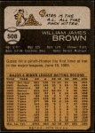 1973 Topps #508  Gates Brown  Back Thumbnail