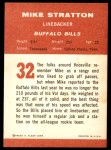 1963 Fleer #32  Mike Stratton  Back Thumbnail