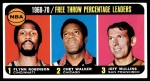 1970 Topps #4   -  Flynn Robinson / Chet Walker / Jeff Mullins Free Throw Pct Leaders Front Thumbnail