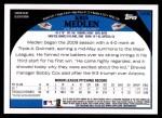 2009 Topps Update #32  Kris Medlen  Back Thumbnail