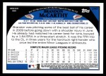 2009 Topps Update #67  Brandon McCarthy  Back Thumbnail