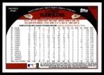 2009 Topps Update #78  LaTroy Hawkins  Back Thumbnail