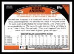 2009 Topps Update #79  Robert Andino  Back Thumbnail