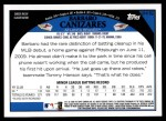 2009 Topps Update #152  Barbaro Canizares  Back Thumbnail
