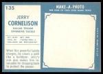 1961 Topps #135  Jerry Cornelison  Back Thumbnail
