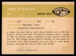 1961 Fleer #137  Tom Rychlec  Back Thumbnail