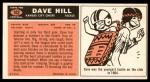 1965 Topps #102  David Hill  Back Thumbnail