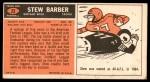 1965 Topps #23  Stew Barber  Back Thumbnail