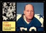 1962 Topps #45  Jerry Tubbs  Front Thumbnail