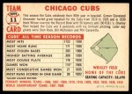 1956 Topps #11 D55  Cubs Team Back Thumbnail