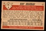 1953 Bowman B&W #6  Ray Murray  Back Thumbnail