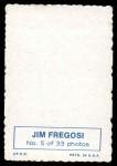 1969 Topps Deckle Edge #5  Jim Fregosi    Back Thumbnail