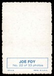 1969 Topps Deckle Edge #22 FOY Joe Foy  Back Thumbnail