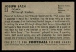 1952 Bowman Small #53  Joe Bach  Back Thumbnail