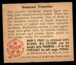 1950 Bowman Wild Man #25   Amazon Frontier Back Thumbnail