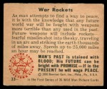 1950 Bowman Wild Man #33   War Rockets Back Thumbnail