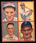 1935 Goudey 4-in-1  Jimmie Foxx / Pinky Higgins / Roy Mahaffey / Dibrell Williams  Front Thumbnail