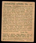 1935 Diamond Stars #32  Sam Rice   Back Thumbnail