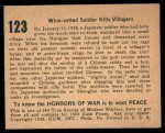 1938 Gum Inc. Horrors of War #123   Wine-sotted Soldier Kills Villagers Back Thumbnail
