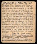 1935 Diamond Stars #34  Stan Hack   Back Thumbnail