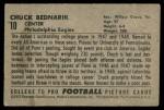 1952 Bowman Small #10  Chuck Bednarik  Back Thumbnail