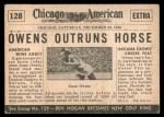 1954 Topps Scoop #128   -  Jesse Owens Jesse Owens Races Horse Back Thumbnail