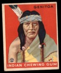 1933 Goudey Indian Gum #156  Genitoa   Front Thumbnail