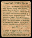 1935 Diamond Stars #49  Buck Jordan   Back Thumbnail