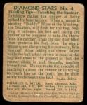 1935 Diamond Stars #4  Buddy Myer   Back Thumbnail