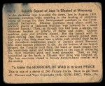1938 Gum Inc. Horrors of War #6   Suicide Squad of Japs is Blasted at Woonsung Back Thumbnail