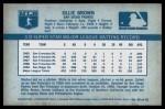 1970 Kellogg's #55  Ollie Brown   Back Thumbnail