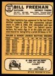 1968 Topps #470  Bill Freehan  Back Thumbnail