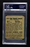 1948 Leaf #113  Dutch Leonard  Back Thumbnail