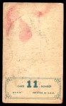 1965 Topps Embossed #11   Mickey Mantle   Back Thumbnail