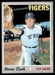 1970 Topps #611  Norm Cash  Front Thumbnail