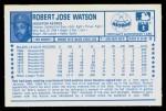 1974 Kellogg's #11  Bob Watson  Back Thumbnail