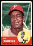 1963 Topps #529  Wes Covington  Front Thumbnail