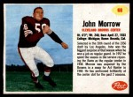 1962 Post Cereal #68  John Morrow  Front Thumbnail