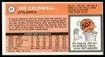 1970 Topps #37  Joe Caldwell   Back Thumbnail