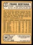 1968 Topps #131  Frank Bertaina  Back Thumbnail