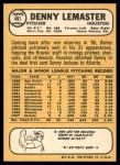 1968 Topps #491  Denny Lemaster  Back Thumbnail