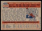 1957 Topps #328  Brooks Robinson  Back Thumbnail