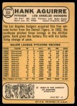 1968 Topps #553  Hank Aguirre  Back Thumbnail