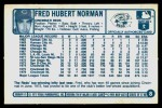 1977 Kellogg's #8  Fred Norman  Back Thumbnail