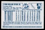 1978 Kellogg's #51  Nolan Ryan  Back Thumbnail
