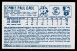 1978 Kellogg's #14  Paul Dade  Back Thumbnail